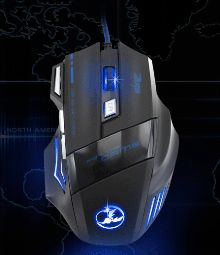3200 DPI7 BUTTON LED OPTICAL USB WIRED GAMING MOUSE
