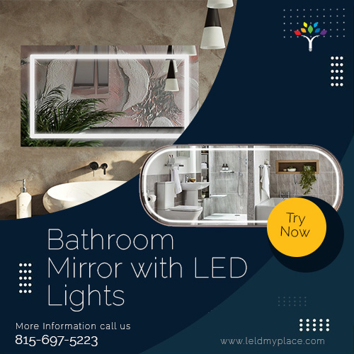 Bathroom Mirror with LED Lights: reduce your energy consumption by half