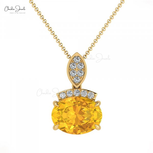 Buy november birthstone Yellow Citrine Necklace Online for Women and Girls ...