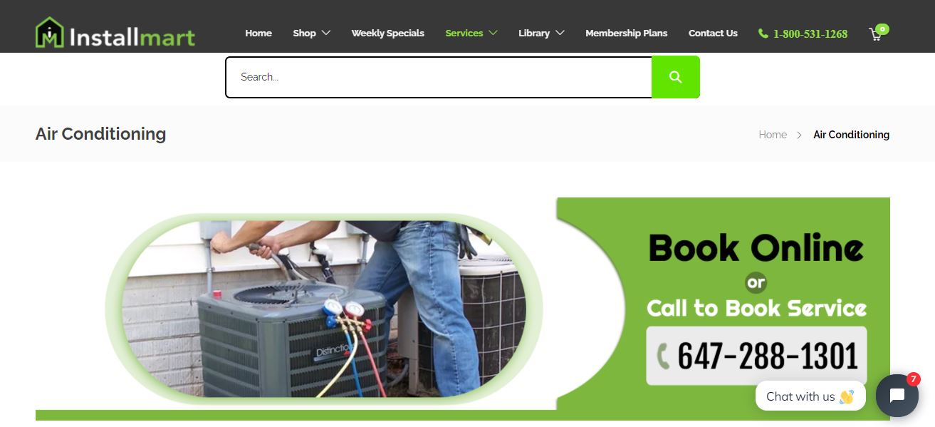 Buy online Central Air Conditioners Mississauga