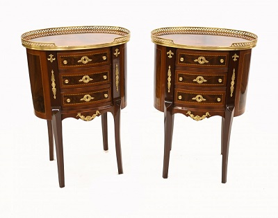 Buy Pair French Bedside Chests Empire Nightstands Online