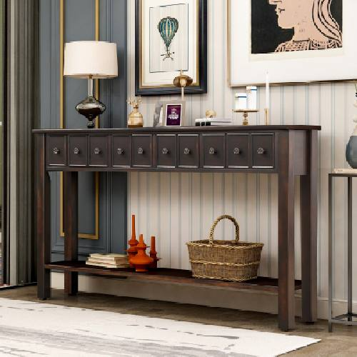 Console Table with Storage Online USA Soogomall.com