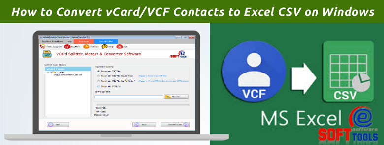 Convert vCard Contacts to Excel CSV