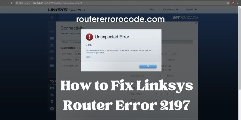 Easy Steps to Fix Linksys Router Error 2197