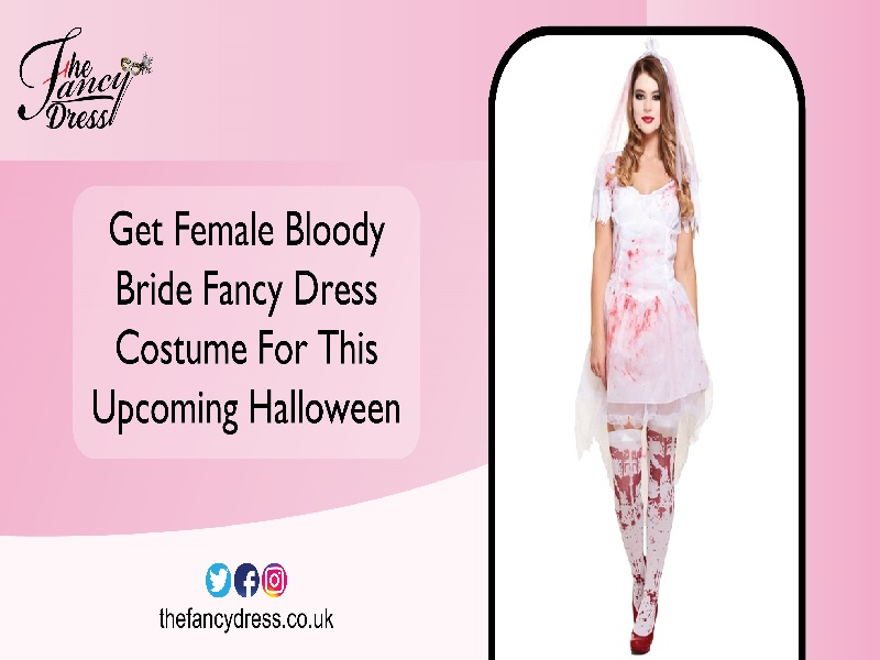 Get Female Bloody Bride Fancy Dress Costume for This Upcoming Halloween