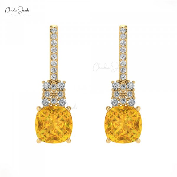 Get wide lovely range of Citrine Earrings Online from Chordia Jewels