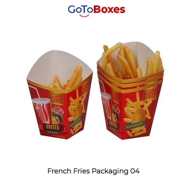 GoToBoxes is the perfect packaging choice for French Fry Boxes
