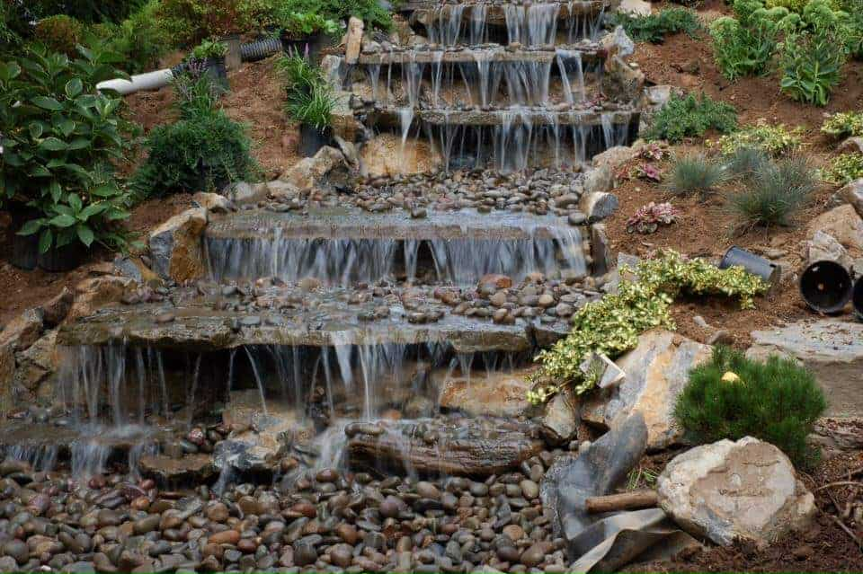 KOI Pond Long Island Small Outdoor Fountain and Water Features Installation