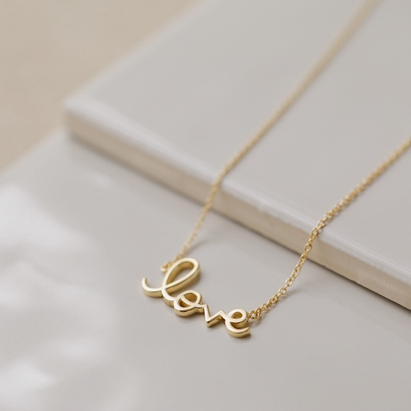 Love Necklace 14k Gold Plated EStore.