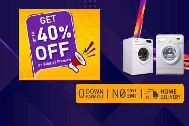 Navratri offer for you! Buy a Front Load Washing Machines up to 40 Cashback