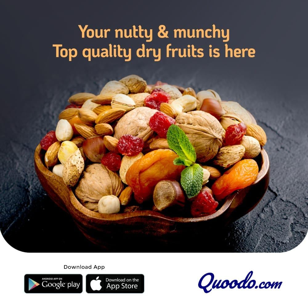 Order Dry Fruits Online in the UAE from Quoodo