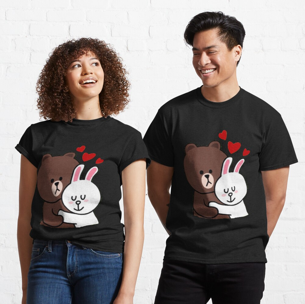 Ours brun lapin cony lapin amour Tshirt