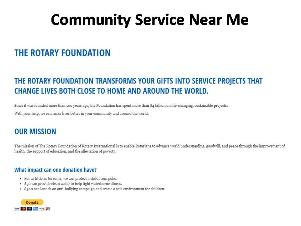 Plano Community Service Opportunities