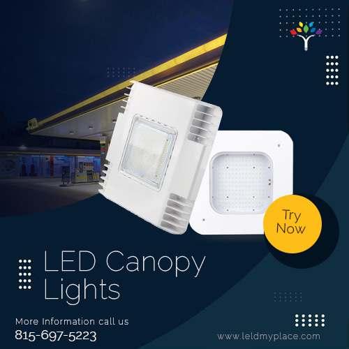 Shop LED Canopy Lights for gas stations and supermarkets