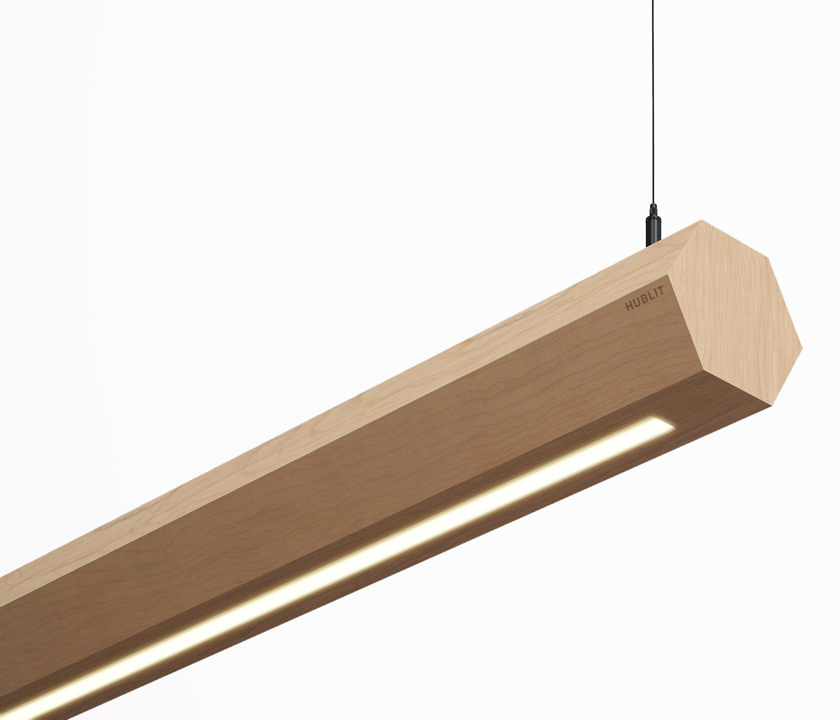 Shop Wouton LED Wooden Pendant Linear Lights Online in USA
