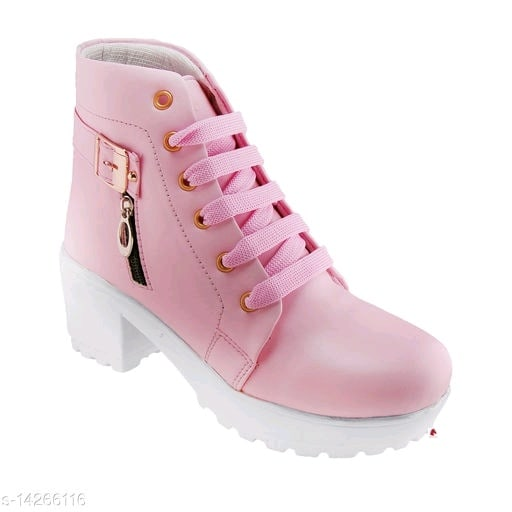 Stylish Womens Synthetic Pink Boots