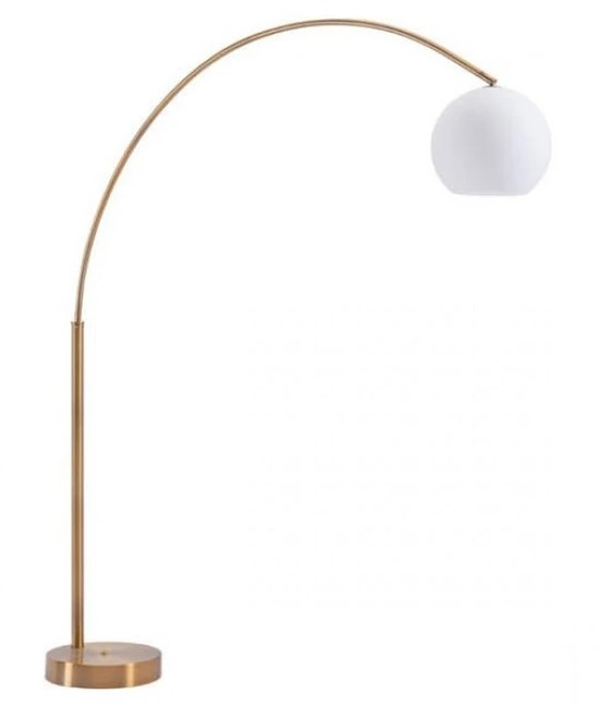 Zuo Griffith Floor Lamp Brushed Brass Stylish Home Lightings Grayson Home