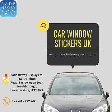 Affordable Car Window Stickers UK for Business Promotion