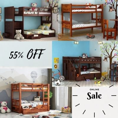 Buy Bunk Beds for Kids Online at Lowest Prices in Chennai Wooden Street