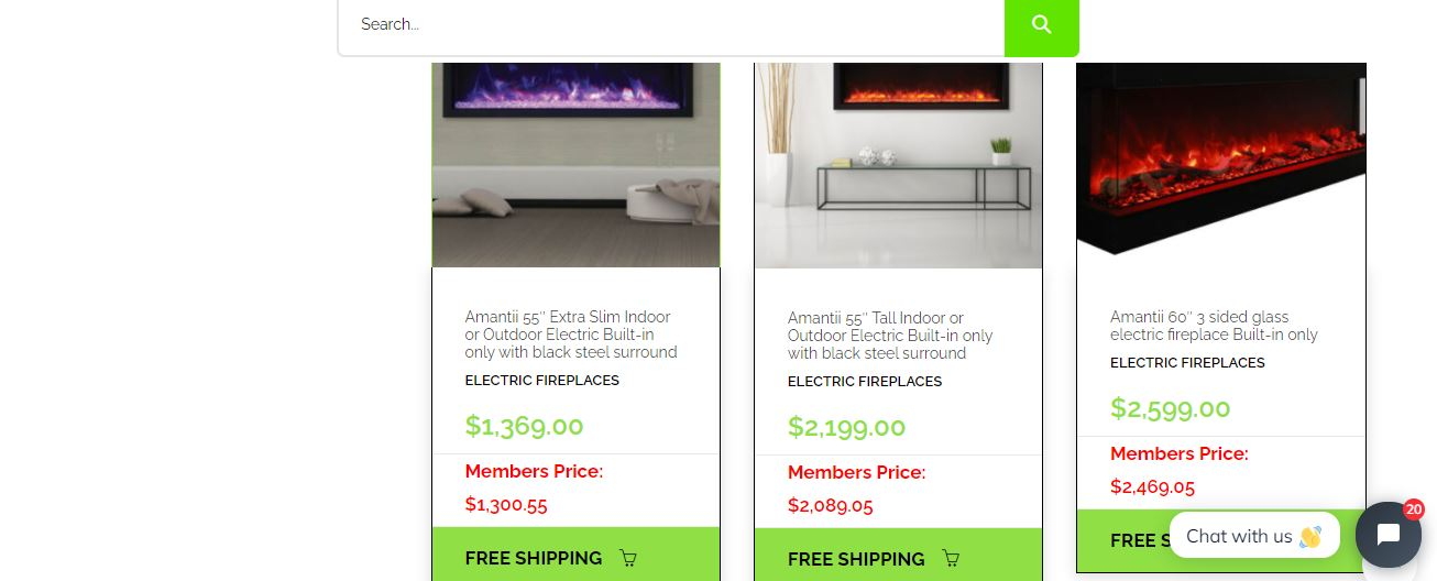 Buy Online Electric Fire Place Mississauga