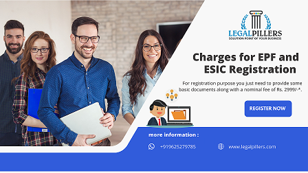 Charges for EPF and ESIC Registration