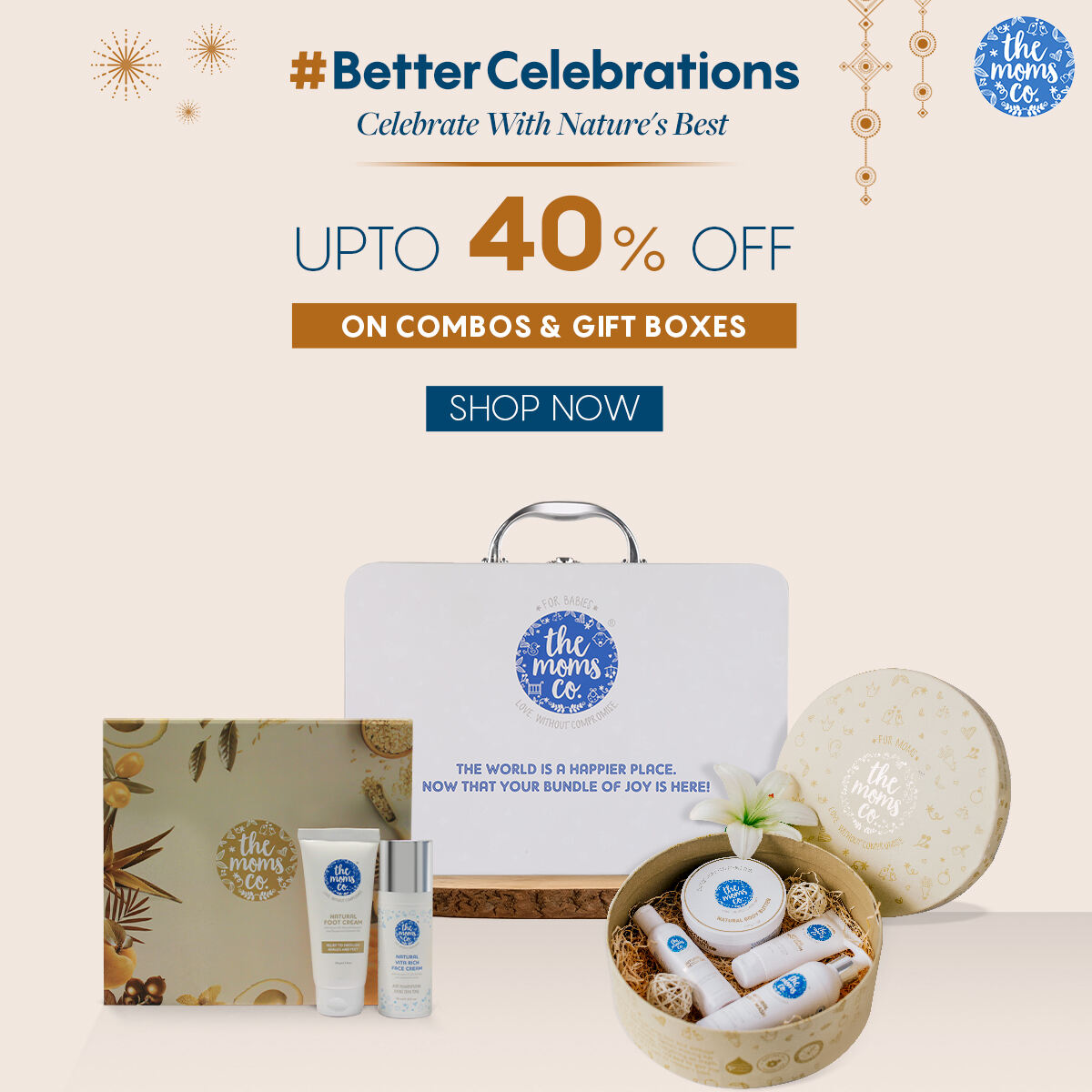 Diwali Celebrations Get upto 40 off on Combos Gift boxes.