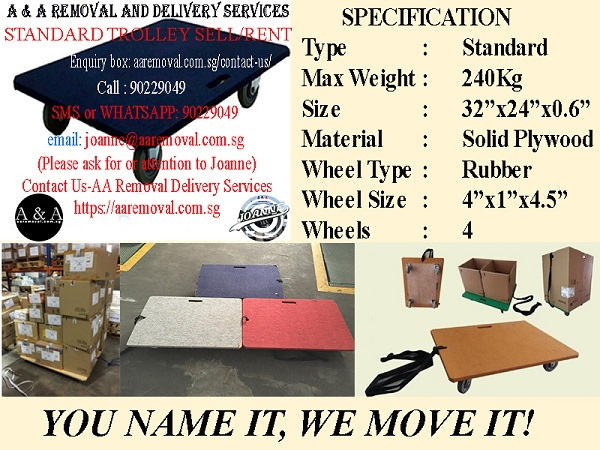 Good Quality 240Kg. Capacity Trolley for your Removal Services