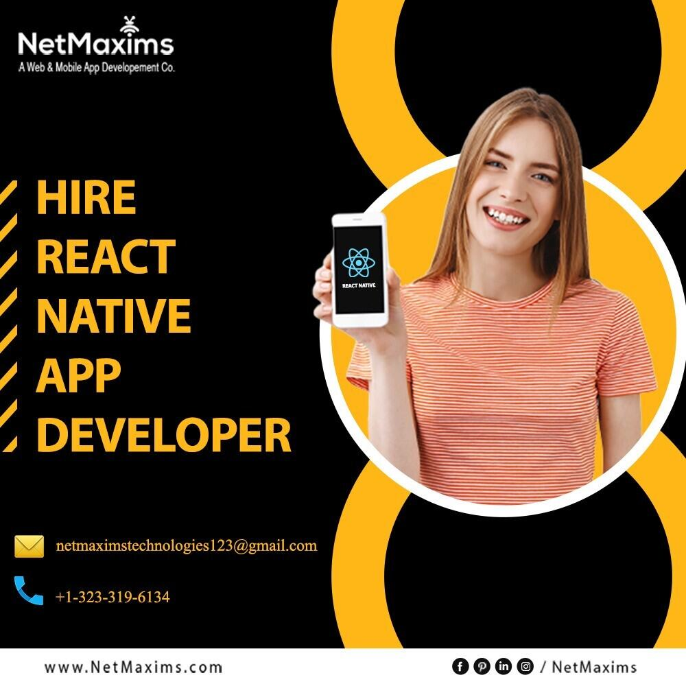 Hire React Native App Developer, React Native Developers for Hire