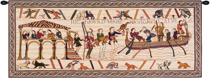 King Harold Large Without Border Bayeux French Tapestry Wall Art 29x80 inc...