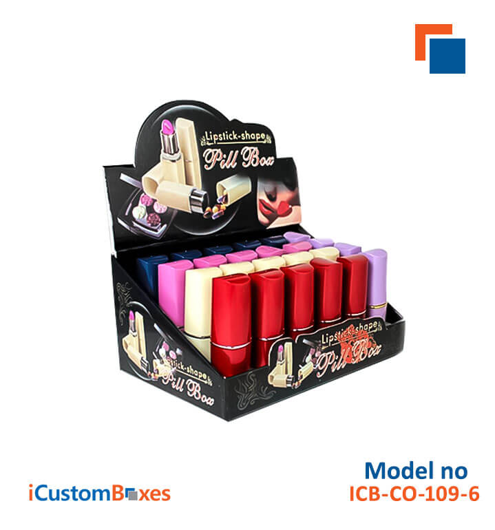 Lipstick Boxes at wholesale rates are available at ICustomBoxes