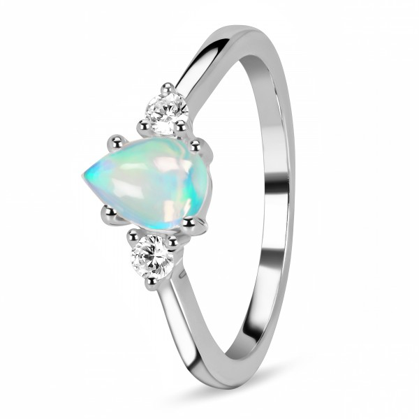 Natural Opal Jewelry Ring At Wholesale Price