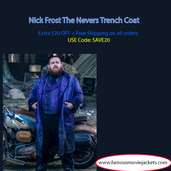 Nick Frost The Nevers Trench Coat