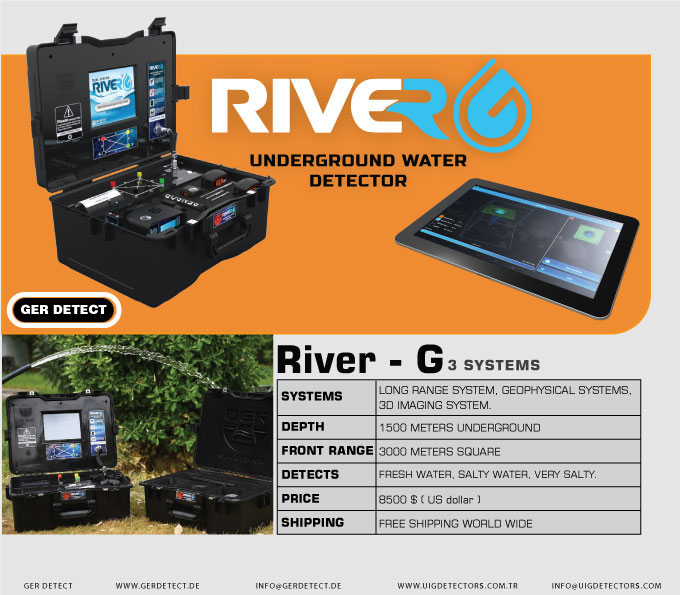 RIVER G Three systems Water Detector
