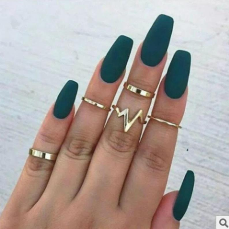 Stackable knuckle ring set Shop today The Colourful Aura