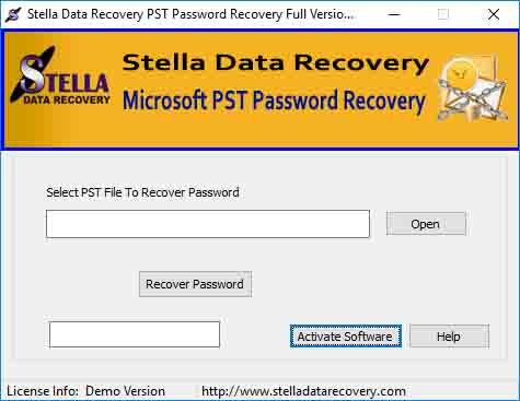 Stella outlook password recovery tool work