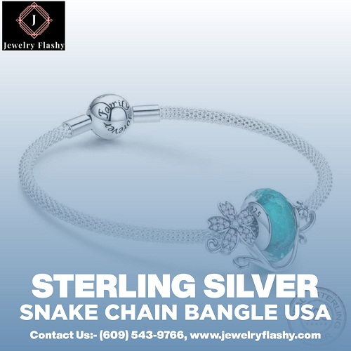 Sterling Silver Snake Chain Bangle in the USA