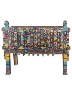 Traditional Damchiya Chest Cabinet Console Accent Hall Table