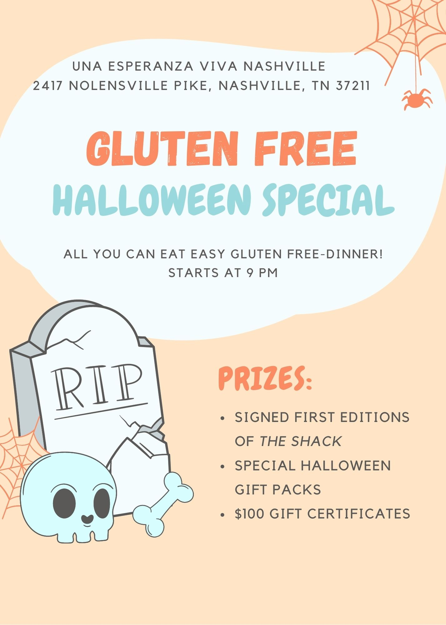 ALL YOU CAN EAT EASY GLUTEN FREE DINNER!
