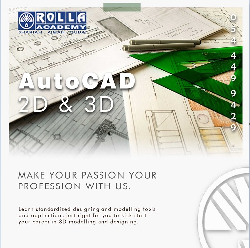 AUTOCAD LIVE ONLINECLASSROOM TRAINING IN SHARJAH ROLLA ACADEMY