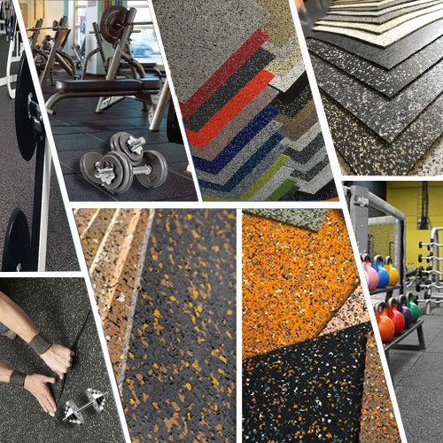 Buy Gym Rubber Flooring Supplies and Installation Services in Dubai UAE