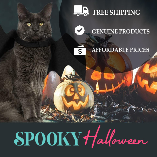 Happy Halloween! FREE shipping started now on BudgetPetSupplies eBay Store