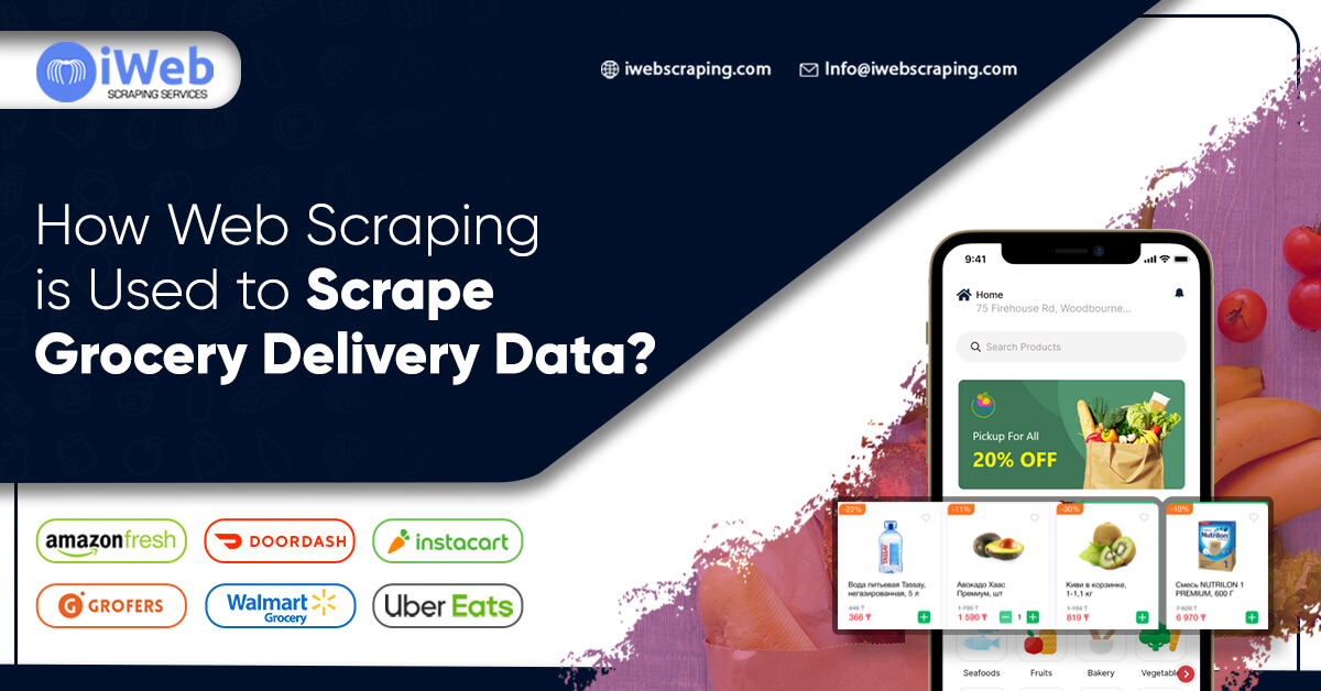 How Web Scraping Is Used To Scrape Grocery Delivery Data?