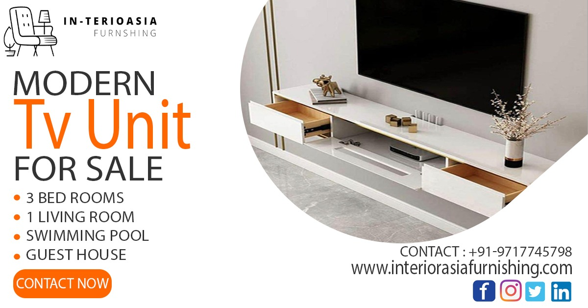 Shop Modern TV Unit online at best prices from InTeriorasia Furnishing