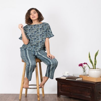 Shop Now Pajama Set in Cotton Online in India