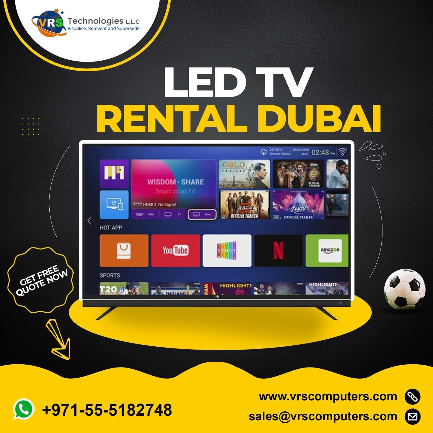 Short Term LED TV Rentals for Events in UAE